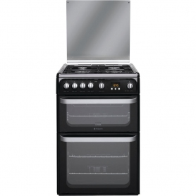 Hotpoint Ultima HUG61K Gas Cooker - Black - 0